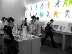 Apple store (Xelya) Tags: apple advertising mac ipod silhouettes applestore ipodadvertising xelyah xelya macadvertising