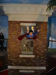 Superman flies out (adoublec) Tags: starwars blackpool 007 tussauds jamesbond davidbeckham waxworks louistussaudswaxworks