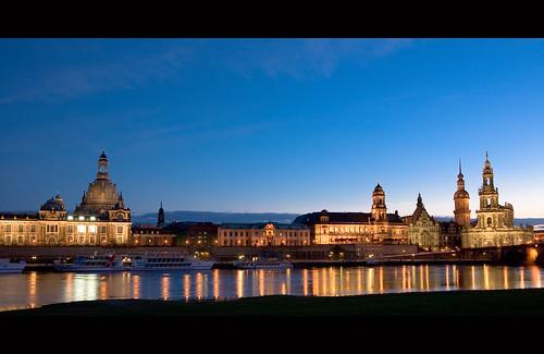 Blaue Stunde über Dresden
