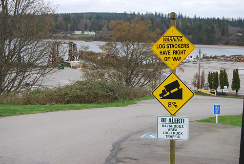 25-Port Gamble Warning Sign
