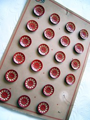 Vintage 1920 Parisian Buttons (MyTangerineDreams) Tags: street vintage team buttons collections etsy parisian 1920