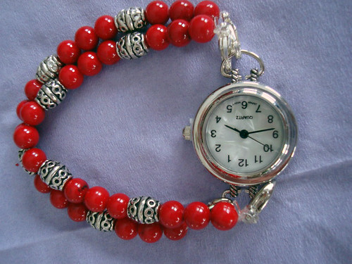 Double Strand Removeable Red Watch Band