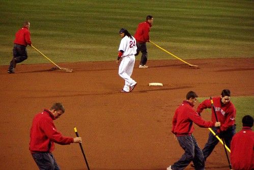Manny among the groundskeepers by you.