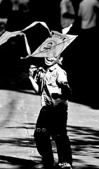 (markantonyphotos) Tags: boy blackandwhite kite canon play pp 400d