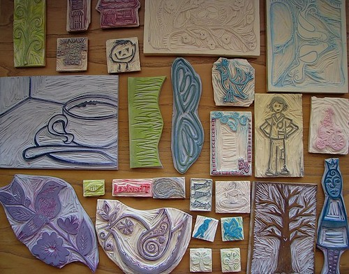Rubber Stamp Art Projects homemade stamps can be