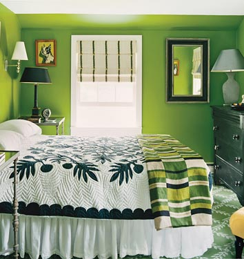 Acid green bedroom, via Flickr: m74reeves