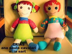 bonecas do projeto  - CriAs (AP.CAVALARI / ANA PAULA) Tags: dolls boneca fabrics tecido cavalari anapaulacavalari apcavalari