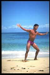 victor rohana on the beach