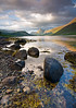 Loch Etive Summertime View (David Kendal) Tags: sunset summer lake mountains seaweed beach landscape scotland highlands scenery rocks scottish shore loch seashore refleciton glenetive lochetive stobnabroige lochscape thebestwaterscapes