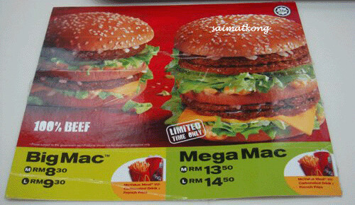 Big Mac vs Mega Mac