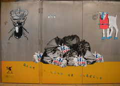 Banksy's Cans Festival, London (zoer) Tags: uk london wall painting graffiti banksy tunnel tesco plasticbags zoer leakestreet cansfestival robingunningham