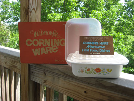 Corning Wildflower Microwave Casserole