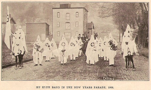 KKK on 7th st. Monongahela PA 1908, New Year's Day