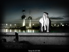 KUWAIT (  T_ !  ) Tags: man tower girl night cat kuwait q8