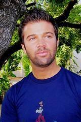 Jerry Sharell (danimaniacs) Tags: blue portrait people tree goofy outdoors jerrysharell