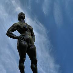 Standing Woman with sky (Leo Reynolds) Tags: sculpture photoshop canon eos iso400 f95 2ev 0004sec 47mm 40d hpexif leol30random xratio11x xleol30x