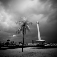 Monas - IR (AAfap) Tags: road street longexposure trip travel trees sky bw cloud white black building tree tower art tourism grass clouds buildings d50 garden indonesia square lens asian ir big nikon asia squares fineart tripod sigma wideangle explore filter jakarta infrared 1020mm sq bnw squared monas hoya sigma1020mm r72 longexp  explored  ageel   bwsquare