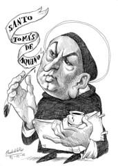 Santo TOMS DE AQUINO (Morales de los Ros) Tags: writers caricaturas philosophers caricatures escritores filsofos