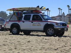 Fire Dept. Truck (youneverknowphotography) Tags: sky santacruz house ford beach truck fire sand palmtrees surfboard dept