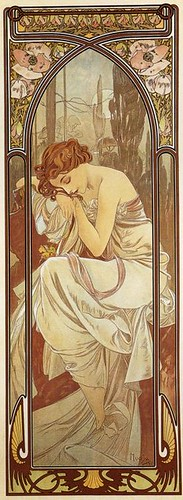 Alphonse Mucha. Night's Rest