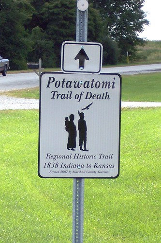 Trail of Death marker