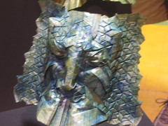 Mask, Joel Cooper (blue paper) Tags: new york paper origami fold 2008 folding ousa