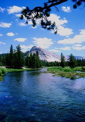 Yosemite Blue Waters, California High Country (moonjazz) Tags: california park blue trees sky mountains nature water clouds river high agua stream natural hike explore alpine pines yosemite dome granite backcountry winding meander wilderness bliss pure lembert