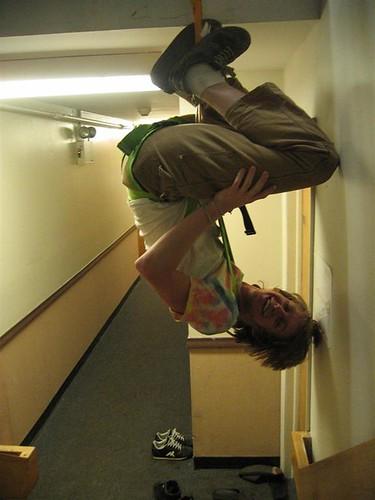 Last shot of the hallway harnessing