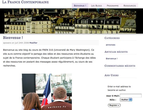 Image of French Theme in WPMu