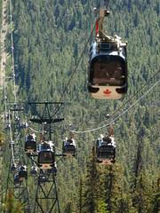 Banff15 Gondolas coming up-closer (sonjakastner) Tags: banff johnstoncanyon banffgondola