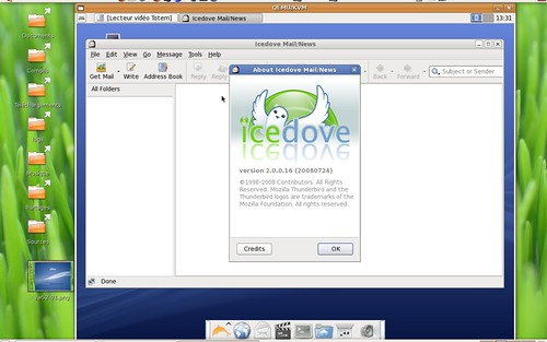 icedove 2.0.0.16 sous Zenwalk