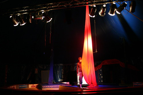 My show, alone in the Big Top.