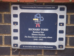 Photo of Richard Todd film cell plaque