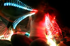 kaitlyns photos 1406 (dragged to the future) Tags: longexposure selfportrait lightpainting girl colorful kaitlyn ropelights