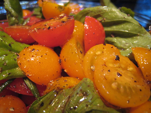 Delicious home-grown garden tomato salad