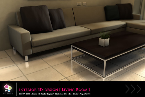 Interior 3D-Design [ Living Room ]  View_04