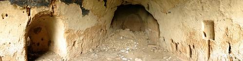 Cave dwellings near Feiyun, Gansu Province, China