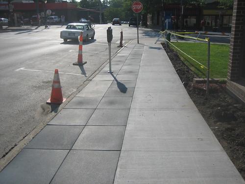 Rubber sidewalk