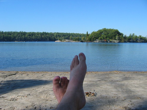Relaxing at Charleston Lake
