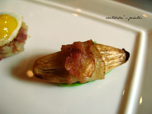 西華飯店Harrod's午茶之培根杏鮑菇