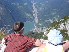 Looking down to Alleghe