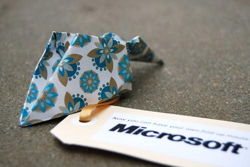 Origami Microsoft fold-up Arc mouse