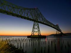 Astoria Bridge at Sunset (sea turtle) Tags: ocean bridge sunset oregon evening columbia pacificocean columbiariver astoria astoriameglerbridge astoriabridge astoriamegler rubyphotographer