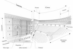 Bosra, restitution du thtre antique (Institut franais du Proche-Orient) Tags: rome architecture theater theatre syria syrie antiquit archologie bosra arabie autthf