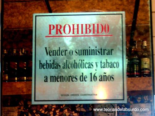 prohibido vender bebidas alcoholicas y tabaco a menores de 16