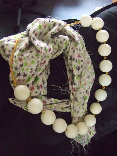Ping Pong Ball Necklace, handmade