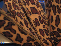 Would you believe . . . curlers? (maritabeth) Tags: hair print fabric leopard rollers curlers