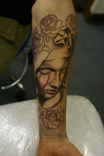 Blood-and-roses-Tattoo by The Tattoo Studio From The Tattoo Studio