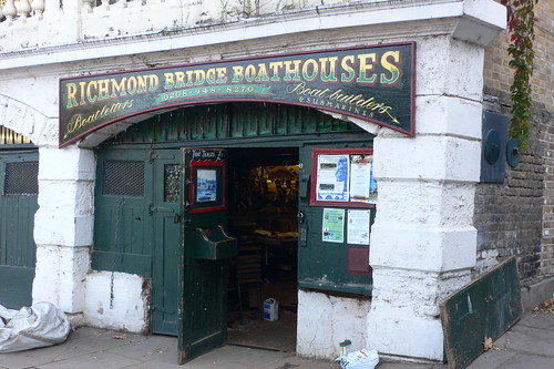A boathouse by Richmond Bridge