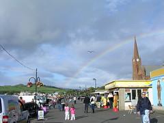 Up Above The Streets And Houses (W F B) Tags: uk bird church clouds scotland rainbow nikon seagull escocia schottland ayrshire largs ecosse scozia 苏格兰 шотландия